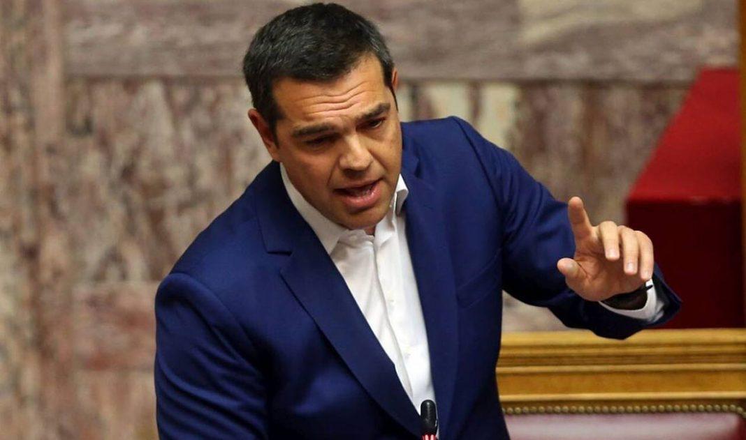 Ο πρόεδρος του ΣΥΡΙΖΑ, Αλέξης Τσίπρας στη Βουλή